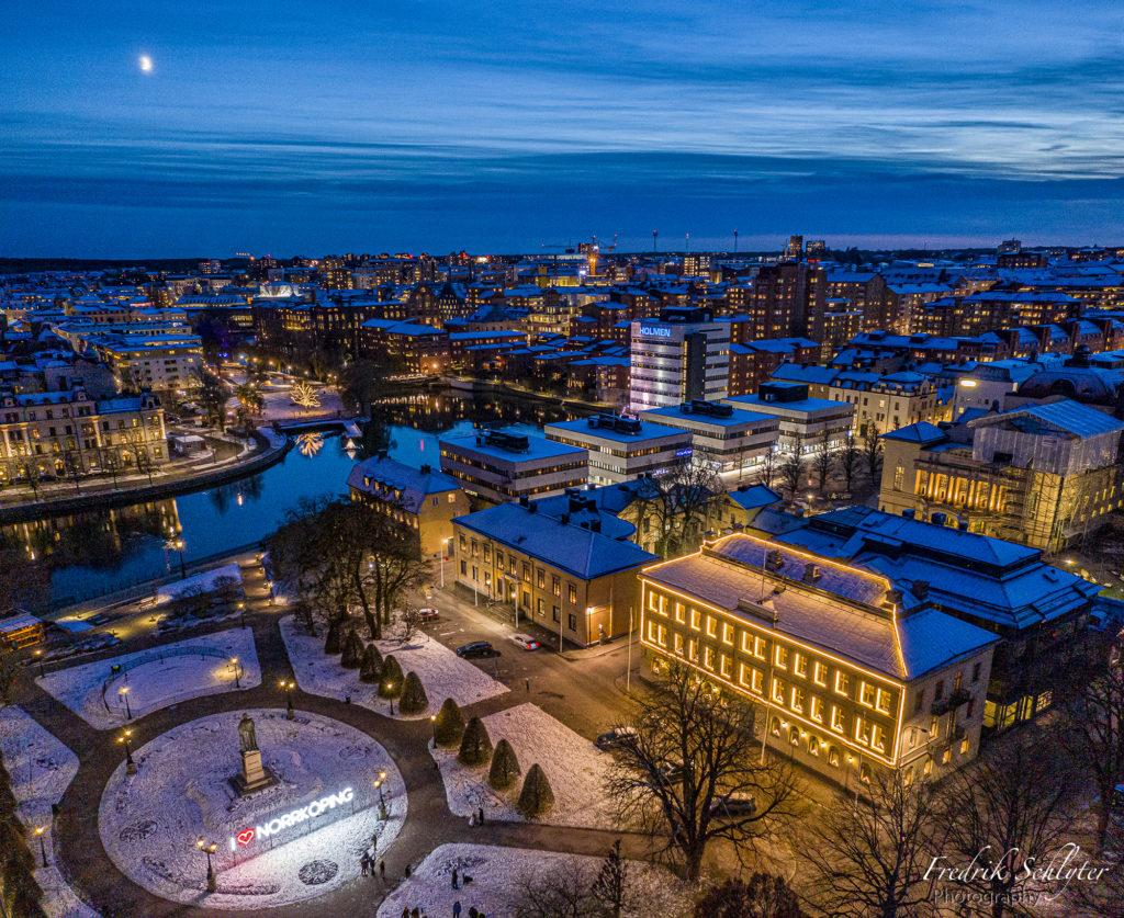 Drönarfoto i Norrköping